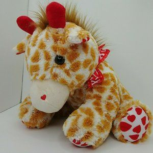 Dan Dee Giraffe White Spotted with Red Hearts